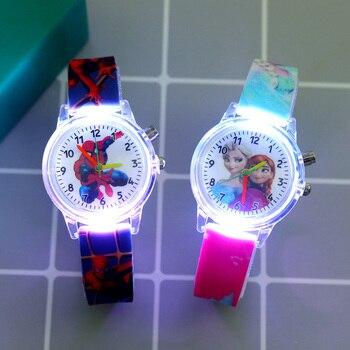 Relojes con luz Flash de dibujos animados de Superhéroes para niños y...