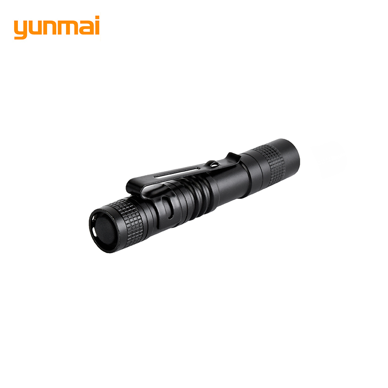 1 Model 2000LM Mini Portable Small Penholder Led Flashlight Night Walking Lighting Car Maintenance Work Torch Aluminum Alloy