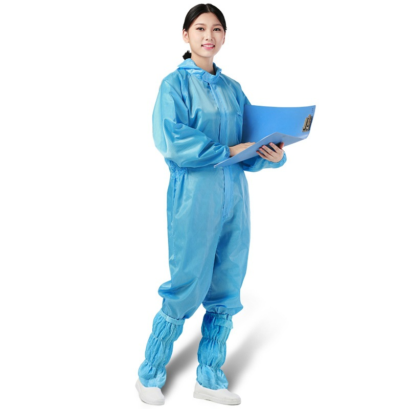 One-piece Full Body Protection Suit Repeated Use Clothes Hooded Dust-free Workshop Cleanroom Garment