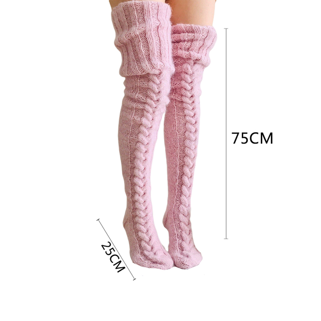 Knitted Pattern Thigh Highs 10