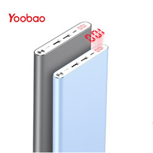 Yoobao A2 20000mAh Universal Power Bank Dual USB Output/Input Ultra Slim Li-Polymer Mobile Portable Battery Charger universal folding solar powered 5v 12w 4500mah dual usb li polymer battery power bank camouflage