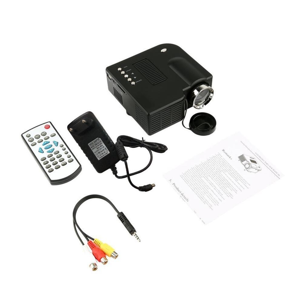 Мини Портативный светодиодный проектор 1080P lcd мультимедийный домашний кинотеатр USB TF светодиодный проектор для домашнего использования