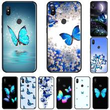 Cute butterfly blue Soft Silicone TPU Phone Cover bumper For Xiaomi Redmi 4x 5 plus 6A 7 7A 8 mi8 8lite 9 note 4 5 7 8 pro fractions bumper book ages 5 7