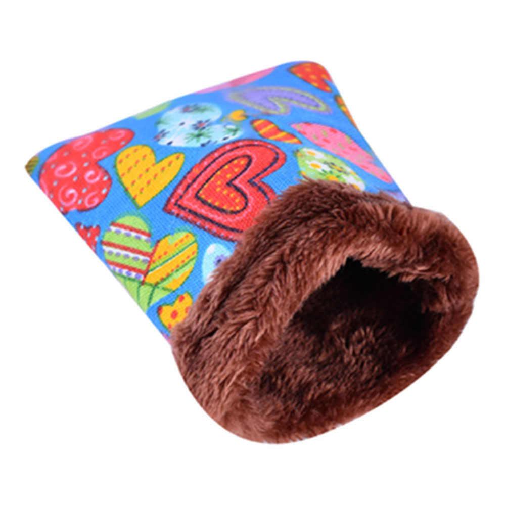 יפה חולדות אוגר חורף חם צמר תליית ערסל חמוד בית עם מיטת Mat קטן פרוותי בעלי חיים קטן בעלי החיים כלוב