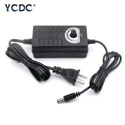 Adjustable 1-24V 24-36V Power Supply AC To DC 3V 9V 12V 24V 36V Adapter 2A Power Supply Adapter 110V 220V To 3 9 12 24 36 V Volt