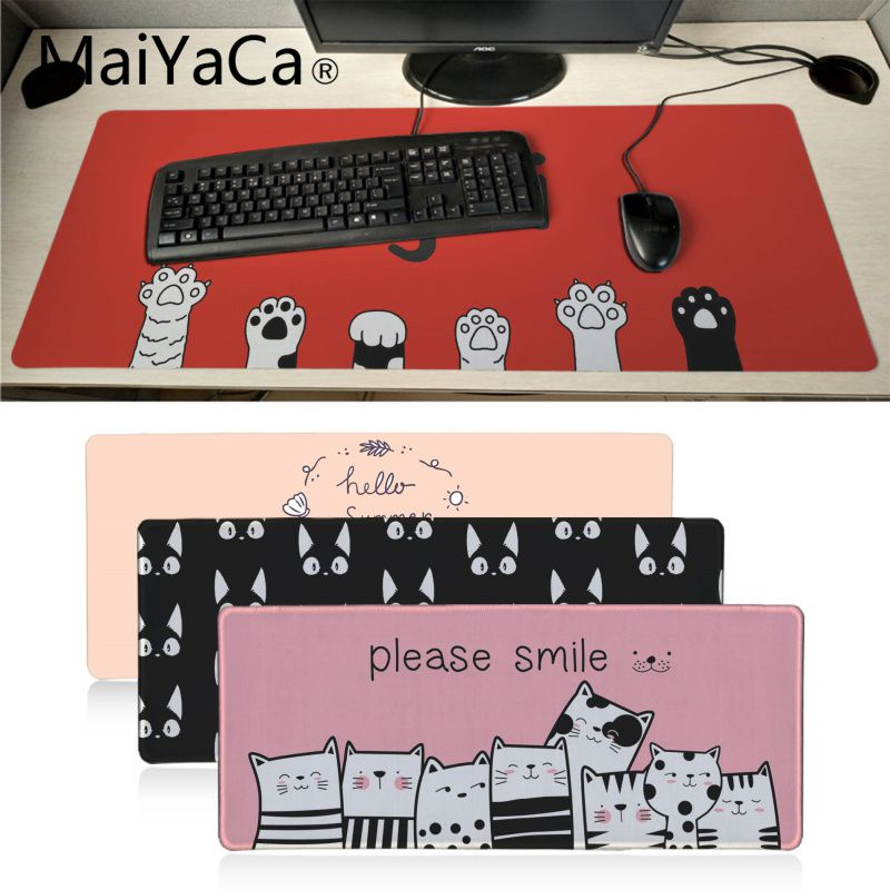 MaiYaCa Cute Baby Cat Paw Comfort Mouse Mat Gaming Mousepad Big Promotion Russia Xl Keyboard Laptop PC Notebook Desk Pad