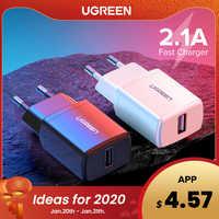 Ugreen 5 v 2.1a carregador usb para iphone x 8 7 ipad carregador de parede rápido adaptador da ue para samsung s9 xiao mi 8 carregador do telefone móvel