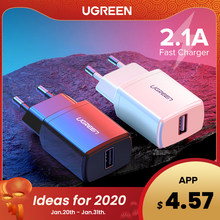 Ugreen 5V 2.1A USB Charger untuk iPhone X 8 7 Ipad Cepat Dinding Charger Adaptor Uni Eropa untuk Samsung S9 xiao Mi Mi 8 Ponsel Charger(China)