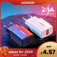 Ugreen 5V 2.1A Usb Charger Voor Iphone X 8 7 Ipad Snelle Wall Charger Eu Adapter Voor Samsung S9 xiao Mi Mi 8 Mobiele Telefoon Oplader
