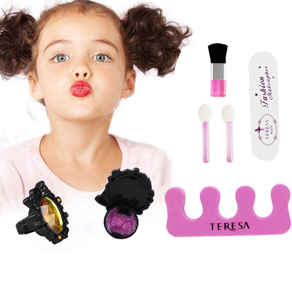 Детский косметический набор для ролевых игр, палитра теней для макияжа, лак для ногтей, бальзам для губ, косметическая пудра для детей, подар... - 3