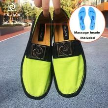 F.N.JACK تدليك نعل أحذية رجالي قماش حذاء مطاطي غير رسمي Masculino الذكية اسبادريل سكاربي الرجال Vip link Zapatillas hombre