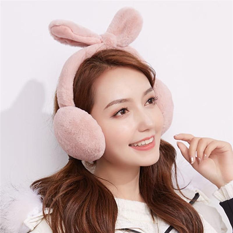 2019 Unisex Foldable Winter Earmuffs Winter Reflective Ear Warmer Plush Earmuffs Nauszniki меховые наушники теплые наушники CD