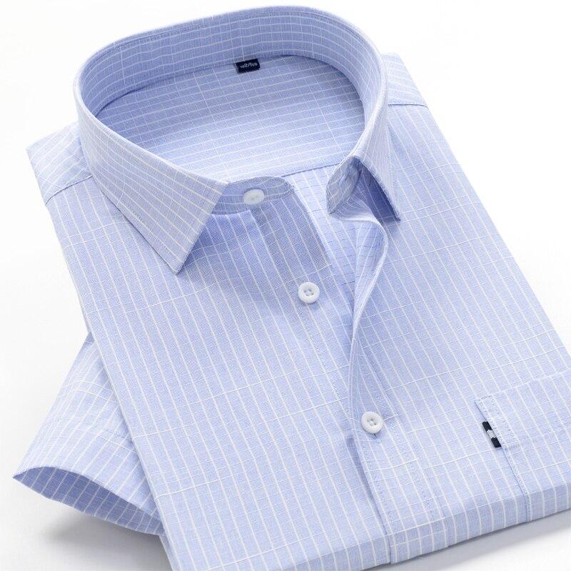 6XL 7XL 8XL 8XL 10XL big size summer striped shirt high quality comfortable cotton men's fashion casual loose short sleeve shirt 3