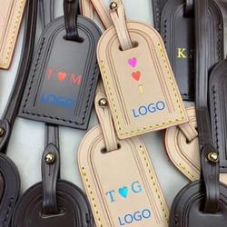 Marque de mode accessoires de voyage étiquette de bagage gracieuse nom personnalisé marquage à chaud initial avec boîte