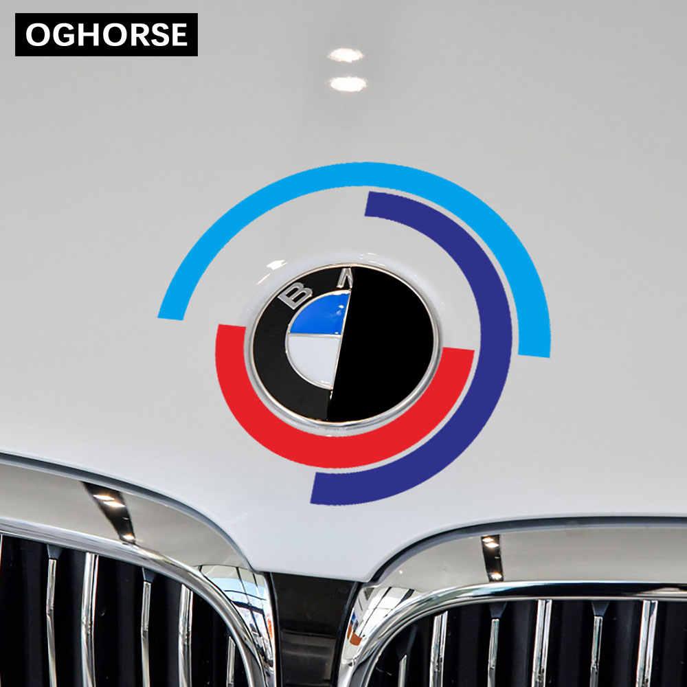 Araba kaputu motor kapağı Logo çıkartması Bonnet amblem çıkartması BMW E60 E90 F20 F30 F10 G30 Z4 F15 F16 F25 g05 G01 G20 X1 aksesuarları