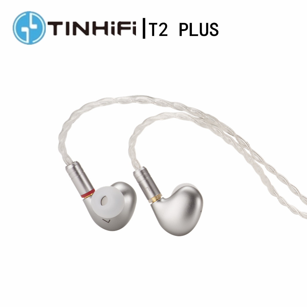 Наушники-вкладыши TINHiFi T2 PLUS с динамическим приводом, металлические наушники с басами 3,5 мм, гарнитура со сменным кабелем TIN T4 T3 T2 PRO P1
