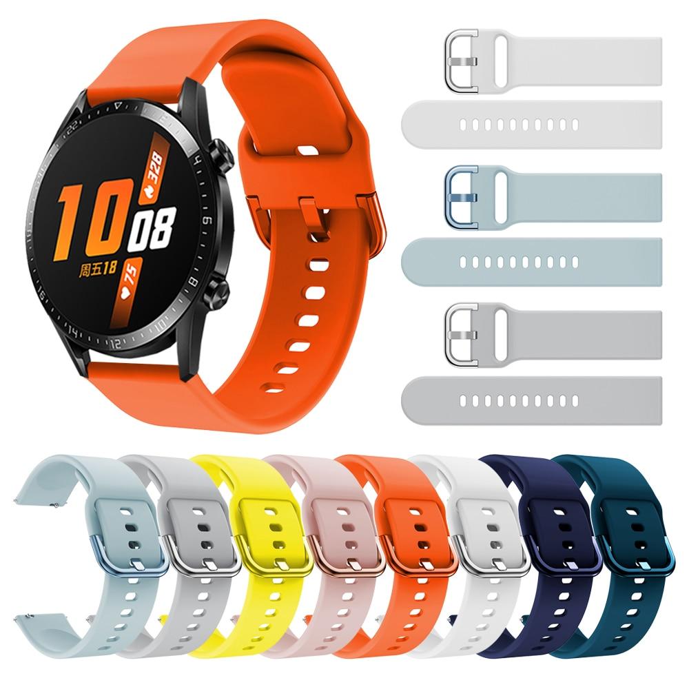 Esporte pulseira de silicone para huawei relógio gt2 gt 2 46mm 42mm faixa de pulso para honra relógio mágico 2 46mm 42mm pulseira pulseira
