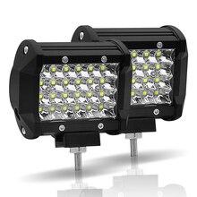 JSLMin عمود إضاءة LED 4 بوصة LED قضيب مصابيح عملي 72W بقعة شعاع 12V 24V الطرق الوعرة ATV UTV UAZ UTE دراجة نارية قارب Worklight مصابيح القيادة