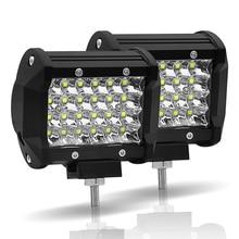 JSLMin LED Work Light Bar 72W Led Bar 4 inch Spot Beam 12V 24V Off Road ATV UTV UAZ UTE Motorbike Boat Worklight Driving Lights