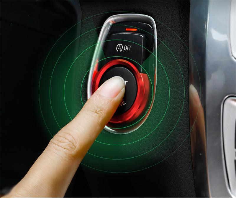 3.59 Cm Mobil Kunci Mesin Mulai Berhenti Tombol Hiasan Cincin untuk BMW 1 2 3 Seri X1 F20 F21 F30 f48 Paduan Mobil Aksesoris Interior