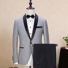 2 предмета в комплекте Для мужчин, подходит для свадьбы смокинг, костюм жениха кольцо из тонкой ткани для мальчиков смокинг для мальчиков в джентльменском стиле костюм для маленьких детей+ Штаны индивидуальный заказ Размеры