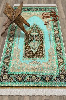Nineveh 1006-S Prayer Rug 80x120cm,Home Textiles,Worship, Islamic, Turkey,Cotton, quality, Robust,Hygienic,Printed,Mikropolyester image