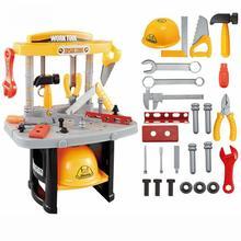 Tool Set Toys For Kids Tools Box Engineer Multifunction Maintenance Desk Educational Intelligence Pretend Play Children Toy