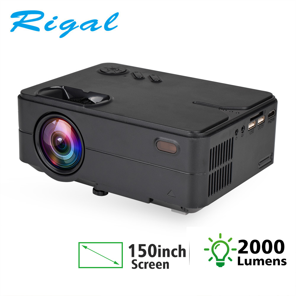 Rigal RD813 Mini Ha Condotto Il Proiettore WiFi Multi Schermo Proyector 2000 Lumen Portatile Home Cinema Theater Smart 3D Film HD Proiettore title=