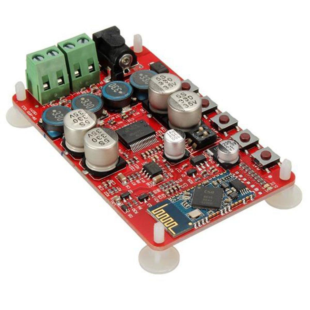 TDA7492P 50 Вт + 50 Вт беспроводной Bluetooth 4,0 аудио приемник, плата цифрового усилителя (красная плата)