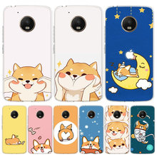 Cat Corgi Dog Cover Phone Case For Motorola Moto G8 G7 G6 G5S G5 E6 E5 E4 Plus G4 Play EU One Action X4 Pattern Coque(China)