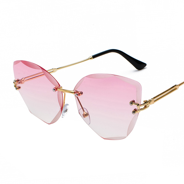 XaYbZc DESIGN Fashion Lady Sun glasses 2020 Rimless Women Sunglasses Vintage Alloy Frame Classic Brand Designer Shades Oculo 10