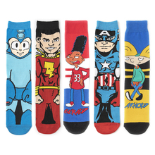 Anime Cartoon Men Sock Casual Breathable Happy Funny Novelty Personality Women