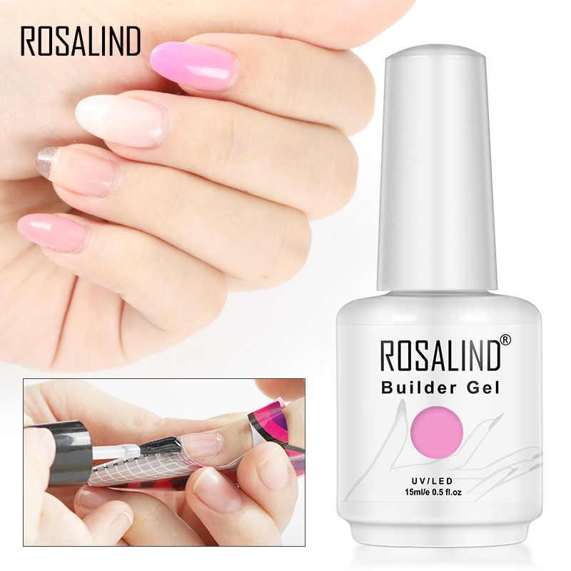 ROSALIND 15ML Builder Gel Nagellak Clear Nail Gel Vernissen Voor Nail Art Ontworpen Losweken Semi Permanente UV lamp Manicure