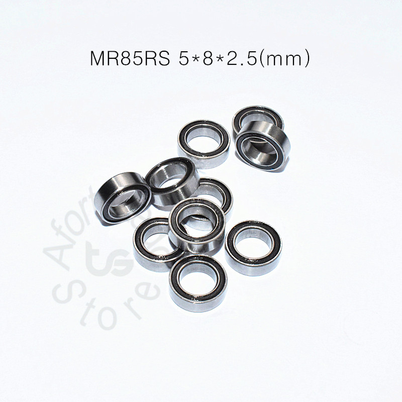 Купить с кэшбэком MR85RS  5*8*2.5(mm) 10pieces free shipping bearing ABEC-5 Rubber Sealed Miniature Mini Bearing MR85 MR85RS
