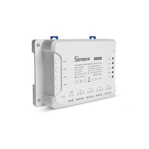 Image 2 - Sonoff interruptor inteligente 4ch pro r3, interruptor de 4 gang por wi fi, com 3 modos de trabalho, intertravamento, casa inteligente, ewelink, interruptor de trabalho com alexa google