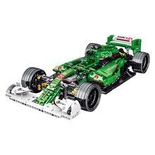 MOC 023008 F1 R5 Sport Auto Simulation 1:14 Modell F1 Farbe Rosa Bausteine Auto 1099 stücke Ziegel Spielzeug Für kinder Jungen Geschenk