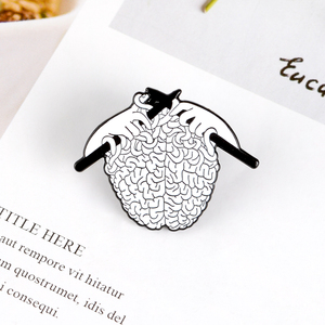 Knit Sweater Brain Pins Medical Anatomy Organ Cerebrum Brooch Neurology Pins for Doctors and Nurses Lapel Pin Bags Badge Gifts(China)