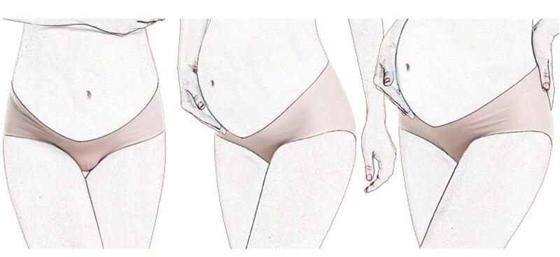 1 шт.; шелковое нижнее Белье для беременных; v-образные трусики; трусики для поддержки живота; бесшовная Одежда для беременных; нижнее Белье для беременных; трусики