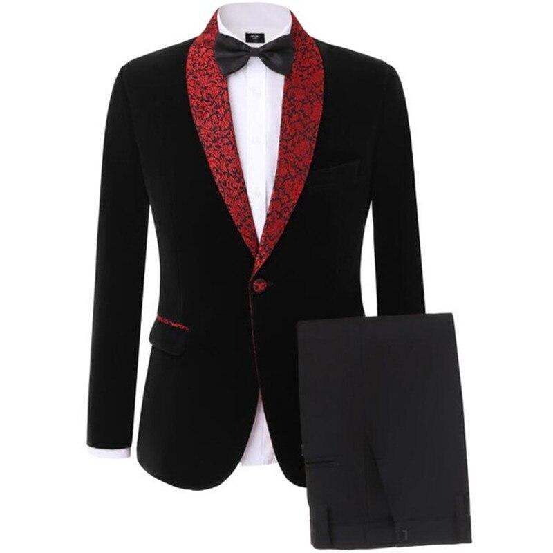 2020Newest Lattice Men's Suit Slim Fit Tailor Made 2 Piece Blazer Wedding Suits Groom Tuxedos Jacket+Pants Terno Masculino