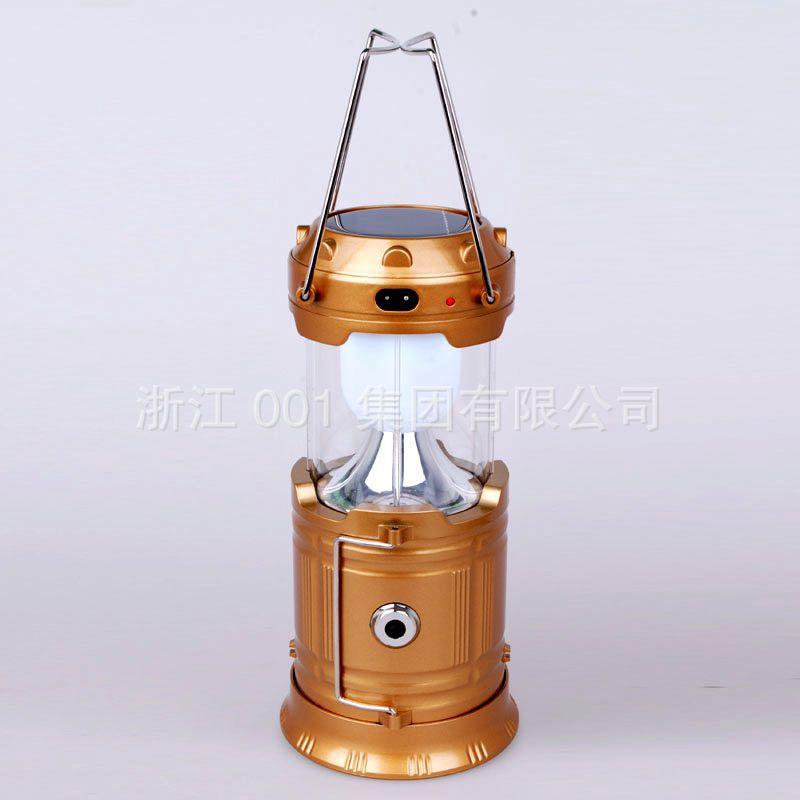 001led Multi-functional Solar Lanterns Lantern Fishing Lights Camping Light Pull Light