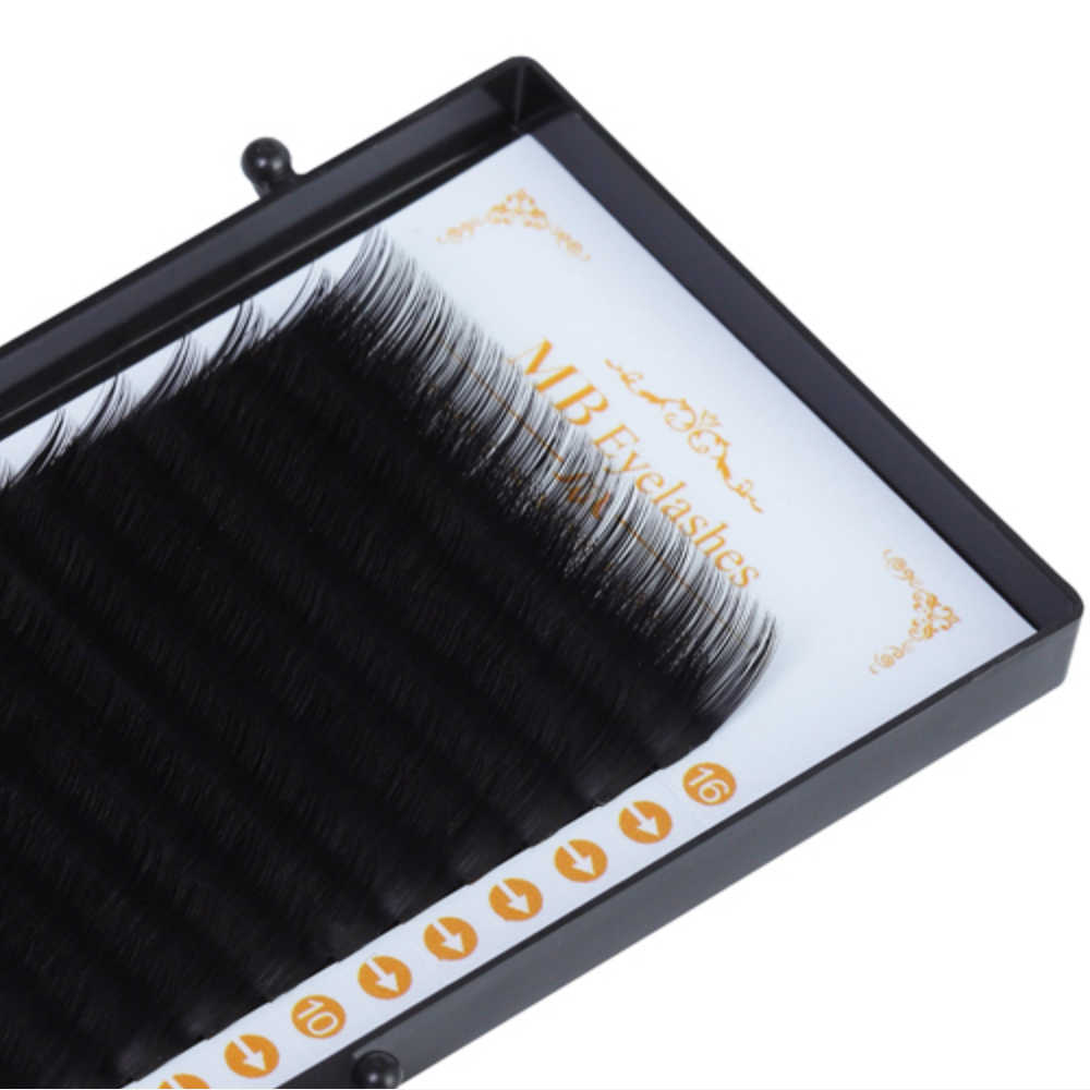 メガバイト 16 行ミンクまつげカーリング個別 100% lashe maquiagem cilios 偽睫毛ソフト 3D つけまつげエクステンションフェイク cils