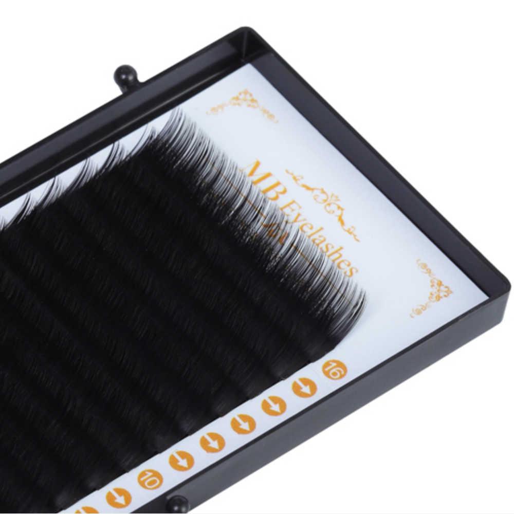 Mb 16 Hàng Chồn Lông Mi Uốn Tóc Cá Nhân 100% Lashe Maquiagem Cilios Giả Eyelashe Mềm 3D Lông Mi Giả Nối Dài Giả Cils