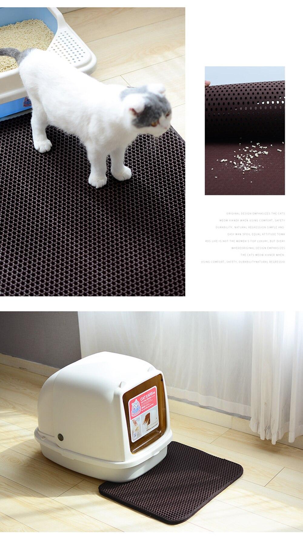 Non-slip Cat Litter Mat EVA Double-Layer Pet Cat Litter Trapper Mats With Waterproof Litter Pet Kattenmand Mat Cat Layer Bottom 6