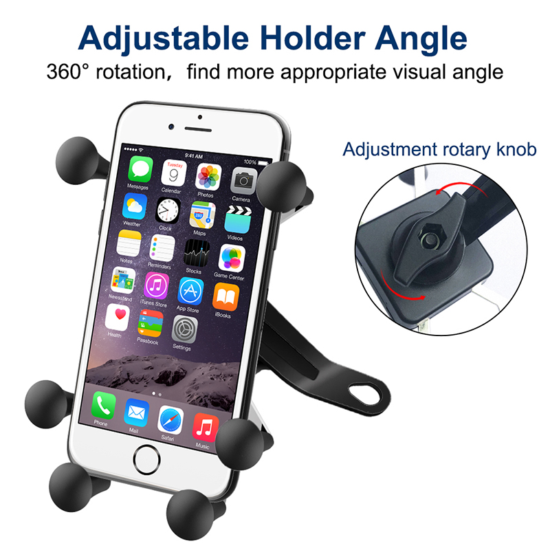 motorcycle cell phone support