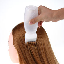 Saç boyası şişesi aplikatör fırça dağıtım Salon saç boyama boyama saç boyası şişesi şampuan yumuşak şişe sıcak aplikatör fırça