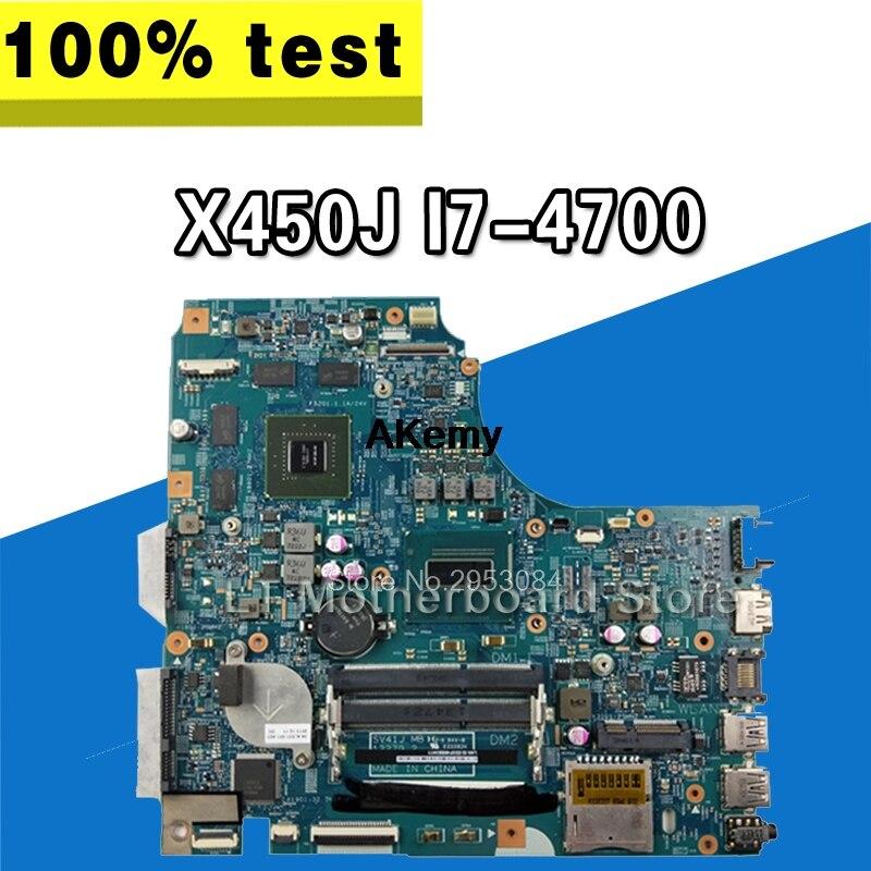 X450J Motherboard For ASUS K450J A450J X450J X450JF F450J SV41J Laptop Motherboard X450J Mainboard X450J Motherboard Test Ok