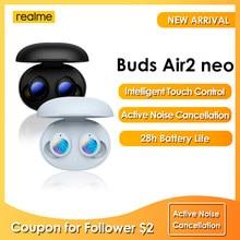 Realme Buds-auricular Air 2 Neo, nuevo dispositivo inteligente de carga rápida con Control táctil, batería de 28h, cancelación activa del ruido