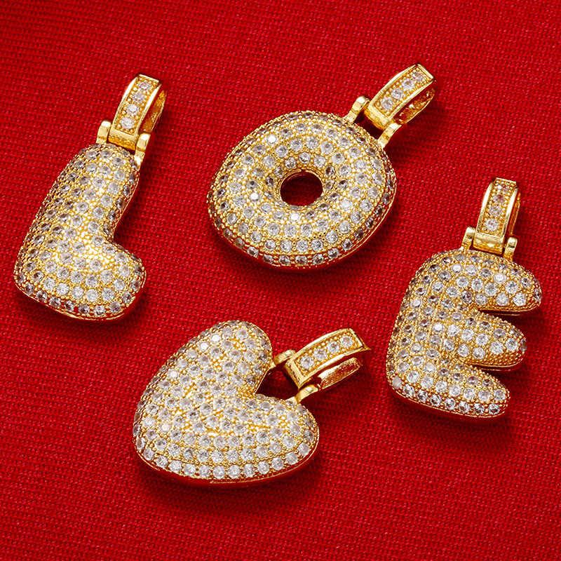 Zhukou 20X29 Mm Halus dan Lemak 26 Emas Huruf Liontin untuk Wanita Buatan Tangan DIY Kalung Anting-Anting Perhiasan Aksesoris mode: VD614