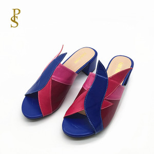 Image 2 - Mixed color PU shoes for women Fashionable and colorful female slippers for ladies