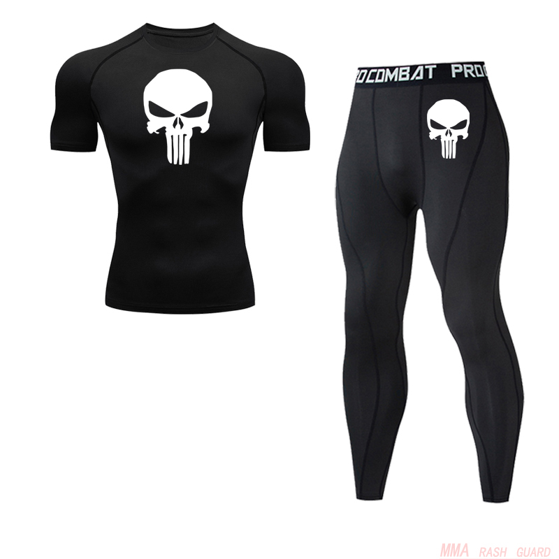 Men's Tracksuit Clothes Compression Sports Suit Fitness MMA Kit Rashguard Male Gym Leggings Sportswear Running Long Tights  4xl